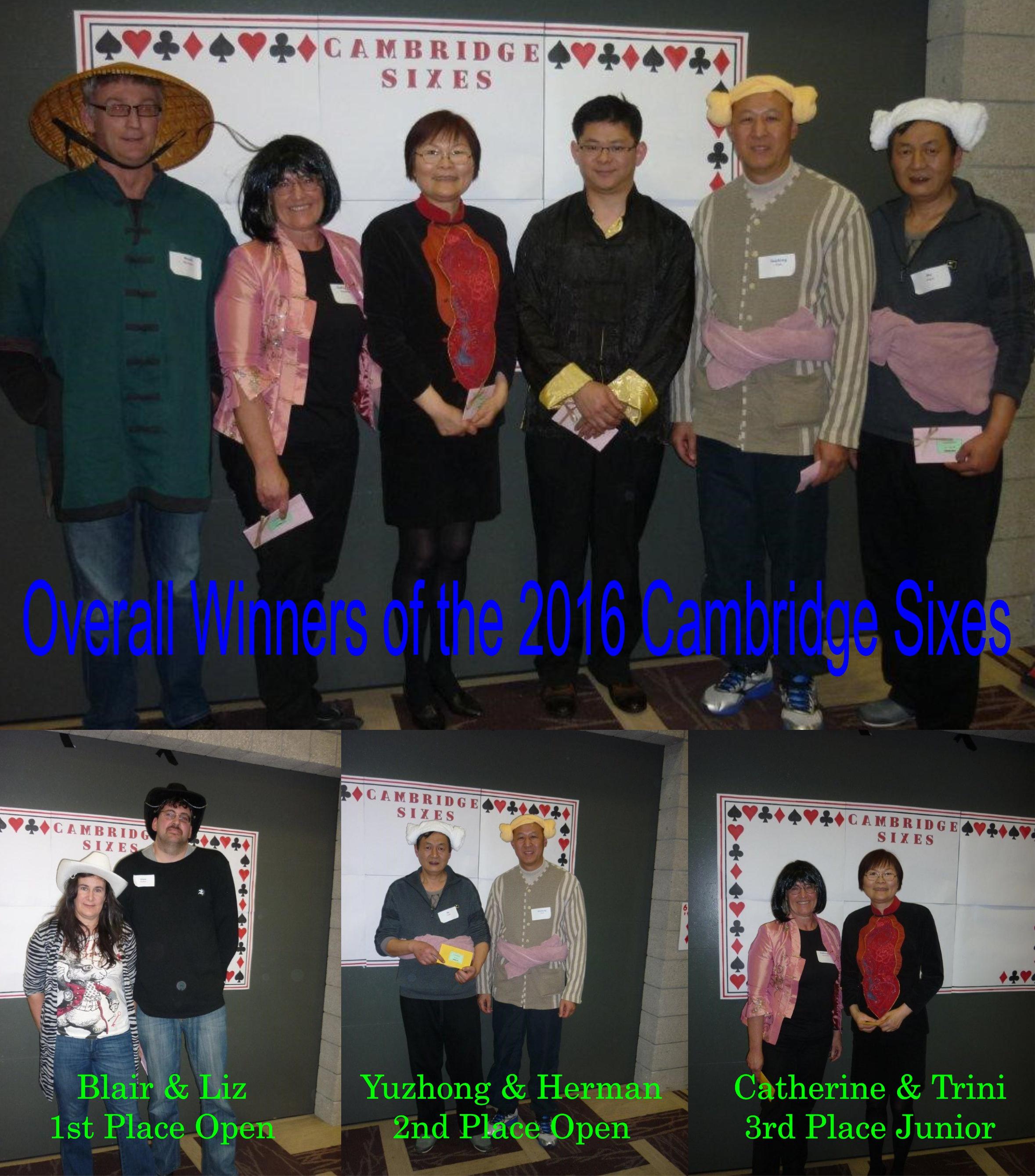 Cambndge 6 winners
