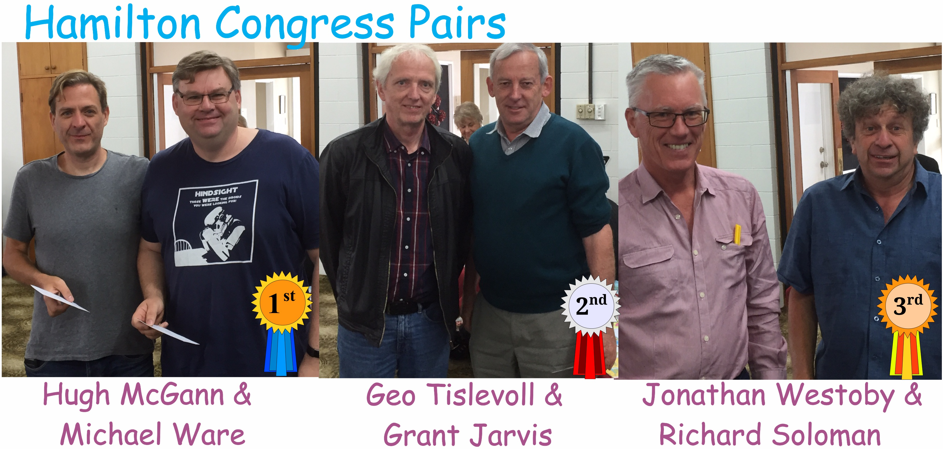 2018 Hamilton Congress Pairs Winners