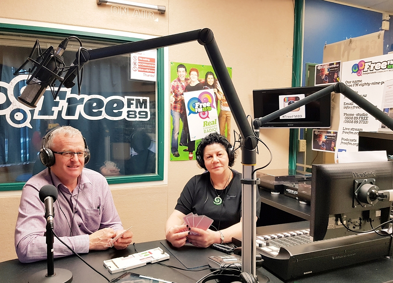 Barry & Mereana recording BRIDGE ZONE